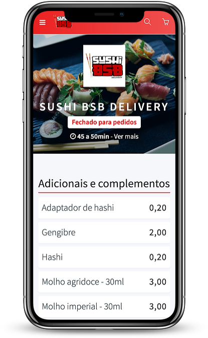 Aplicativo Sushi BSB no iPhone